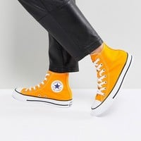 Converse Chuck Taylor All Star Hi Trainers In Orange at asos.com