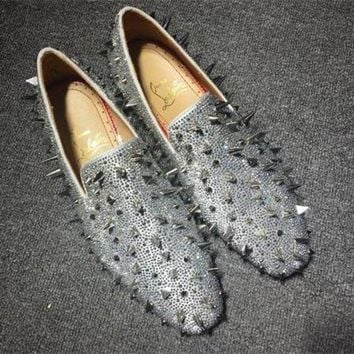 DCCK2 Cl Christian Louboutin Loafer Style #2387 Sneakers Fashion Shoes