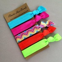The Brandy Hair Tie Ponytail Holder Collection by Elastic Hair Bandz