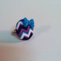 Purple Geo Ring from Kute As a Button Shop