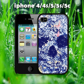 Floral Sugar Skull design case for iphone 4/4s, iphone 5, iphone 5s, iphone 5c, More styles for you choose
