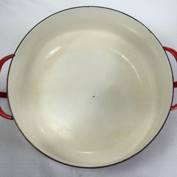 Vintage Dansk Designs Denmark IHQ Kobenstyle Dutch Oven 3-4 Quart Chinese Red