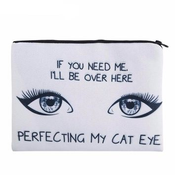 Perfecting My Cat Eye Cosmetic Bag