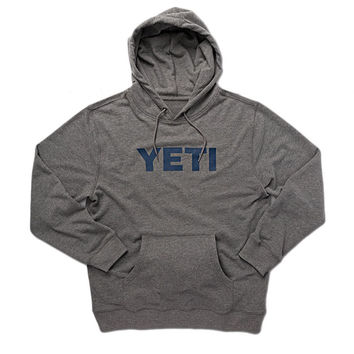 Logo Hoodie Pullover in Heather Grey by YETI