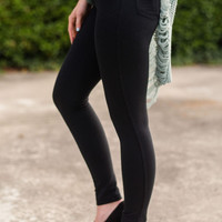 Skinny Jeggings In Black