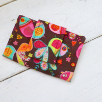 Fabric wallet, women's wallet, card holder, cotton wallet, fabric wallet pink, stocking stuffer, gift idea, ready to ship, handmade