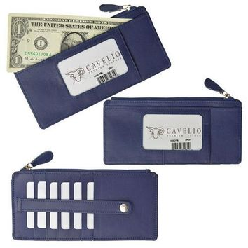 Slim Genuine Leather Credit Card Wallet Unisex