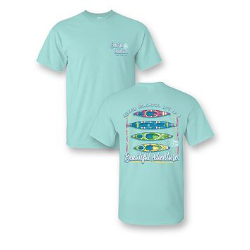 Sassy Frass Comfort Colors Life is a Beautiful Adventure Kayak Bright Girlie T Shirt