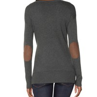 Elbow Patch V-Neck Sweater | Hi-Low Hem Sweater | THE LIMITED