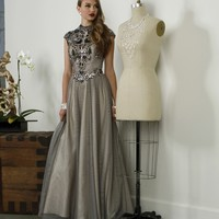 Karina-gunmetal Prom Dress