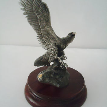Chilmark Fine Pewter Liberty Eagle Proud Hunter Pewter Sculpture Limited Edition 645/3500
