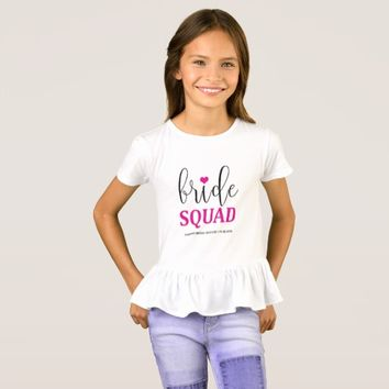Bride Squad Hot Pink Bridal Shirt for Flower Girl