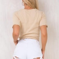Hoodwink Denim Shorts White