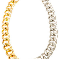 The Ombre Gold & Silver Chain Link Necklace