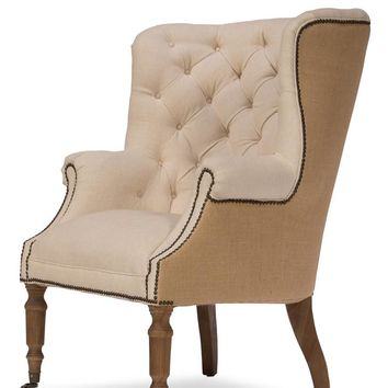 Windsor Linen And Jute Chair