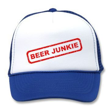 Beer Junkie Trucker Hat from Zazzle.com