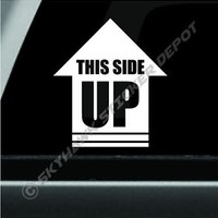 This Side Up Arrow Vinyl Decal Bumper Sticker Rock Crawler Off Road Decal Jeep