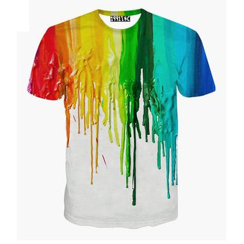 Kids Spilled Paint Printed T-Shirt