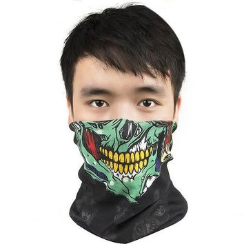 ESBONJ New Skull Face Mask Bandana Bike Motorcycle Scarf Face CS Ski Headwear Neck Party Masks Halloween Mask Motorcycle Mask Skull