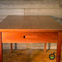 Amazing Danish Mid Century Eames Era Teak End Table