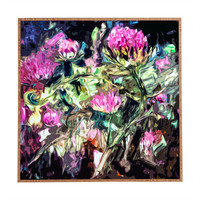 Ginette Fine Art Purple Thistles Framed Wall Art