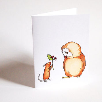 cute christmas card set cute animal card funny christmas ca - Animal Christmas Cards