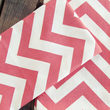 Coral Chevron Hand Towels (set of 2)