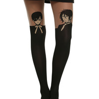 Black Butler Sebastian Ciel Faux Thigh High Tights
