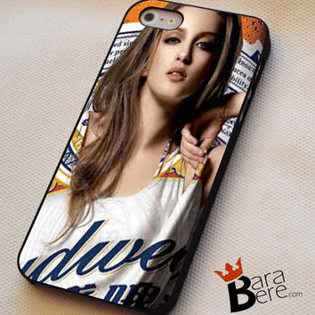 Budweiser girl iPhone 4s iphone 5 iphone 5s iphone 6 case, Samsung s3 samsung s4 samsung s5 note 3 note 4 case, iPod 4 5 Case