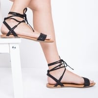 Desert Sand Lace Up Sandals