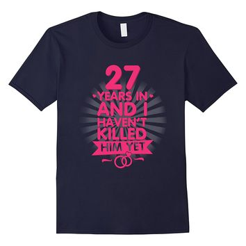 27 Years of Marriage T shirt. 27th Anniversary Gift for Wife