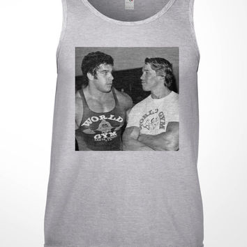 Workout Tank Top - arnold schwarzenegger, Lou Ferrigno, tee shirt, mens, gift, mr olympia, competition, pumping iron, weight lift, gym