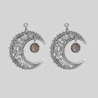 EUDORA. Black Mother of Pearl Crescent Earrings – REGALROSE