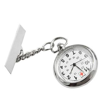 OUTAD Large Face Nurses Pocket Fob Watch on a Bar with a Brooch Back Silver Color Promotion relogio masculino