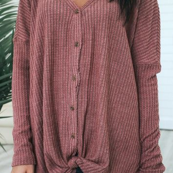 Southern Comfort Top - Soft Plum