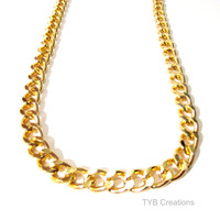 SALE Gold Chunky Chain Necklace. Chain Necklace.