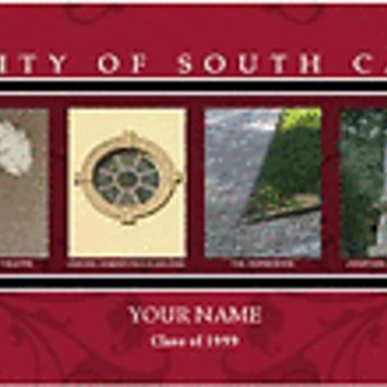 College-NCAA Campus Letter Art Universityof South Carolina Personalize it