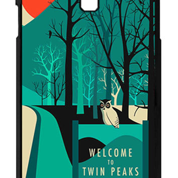 Twin Peaks Welcome To Twin Peaks Samsung Galaxy S4 Cases - Hard Plastic, Rubber Case