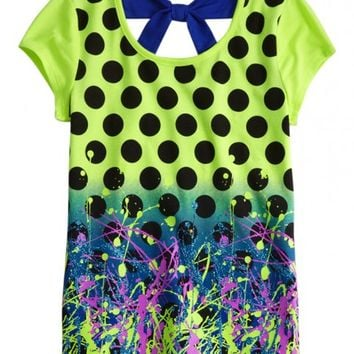 Bow Back Graffiti Print Tee | Girls Pop Riot New Arrivals | Shop Justice