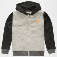 Rvca Gothard Quilt Boys Hoodie Grey  In Sizes