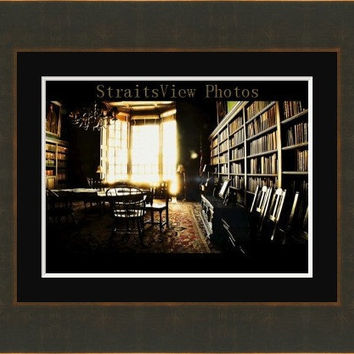 Award Winning photo, antique room,,fine art old school building, photos architecture, Library photos,wall art, old rustic room ,