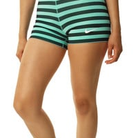 "Nike Women's Dri-FIT Pro Stripes And Dots 3"" Compression Shorts"