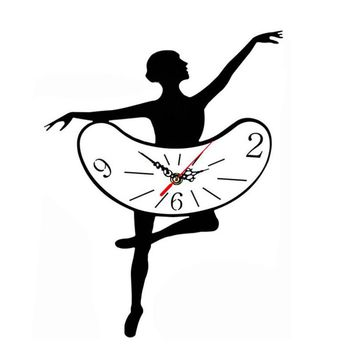 Ballet Girls Decoration Wall Clock