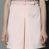 Classy Belted Skirt in Pink Pink