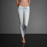 A&F Super Skinny Ankle Jeans