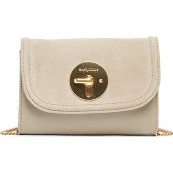See by Chloé Mini Lois Calfskin Leather & Suede Clutch | Nordstrom
