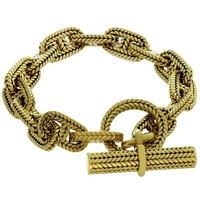 Hermès George L'Enfant Chain d'Ancre 18 Karat Yellow Gold Medium Bracelet