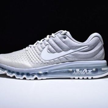 Perfect Nike Air Max 2017 Light Bone Flymesh Men's Running Shoes Sneakers