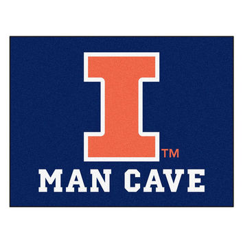 Illinois Fighting Illini NCAA Man Cave All-Star Floor Mat (34in x 45in)