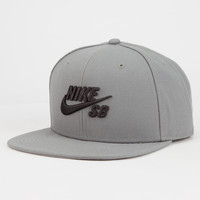 Nike Sb Icon Pro Mens Snapback Hat Grey One Size For Men 26442611501